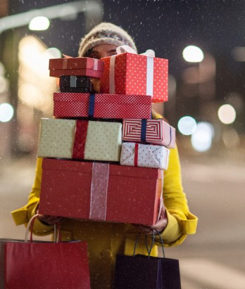 Person carrying gifts